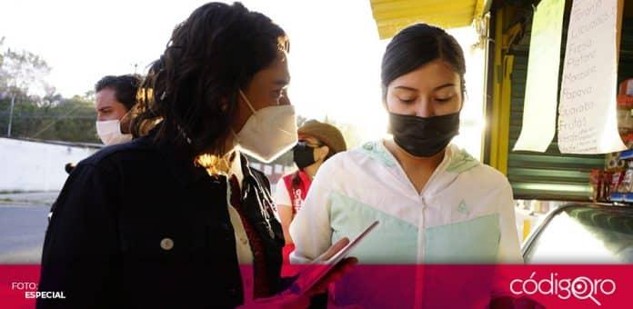 Abigail Arredondo, candidata del PRI a la gubernatura de Querétaro, prometió a apoyar a la UAQ en la producción de la vacuna contra COVID-19. Foto: Especial