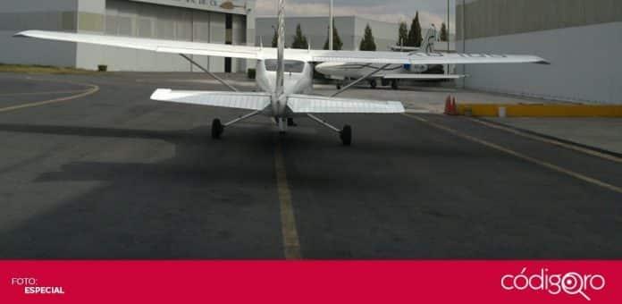 Una aeronave se accidentó poco después de haber despegado del Aeropuerto Intercontinental de Querétaro. Foto: Especial