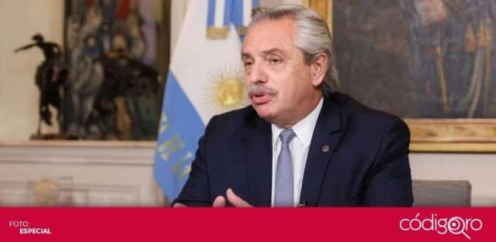 El presidente de Argentina, Alberto Fernández, resultó positivo a una prueba rápida de COVID-19. Foto: Especial