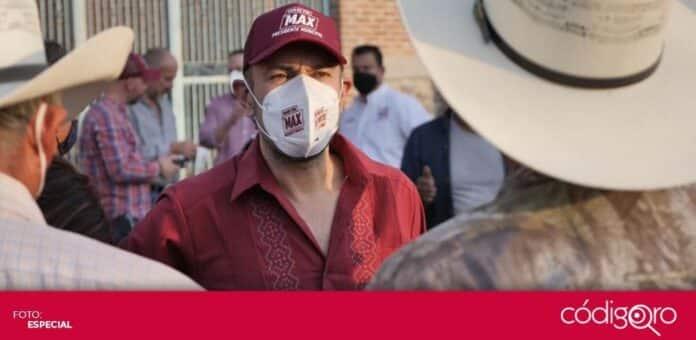 Arturo Maximiliano, candidato de Morena a la presidencia municipal de Querétaro, opinó sobre el cambio a Escenario A. Foto: Especial