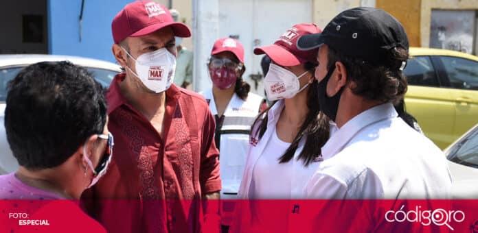 El candidato de Morena a la presidencia municipal de Querétaro, Arturo Maximiliano, criticó la obra en Pie de la Cuesta. Foto: Especial