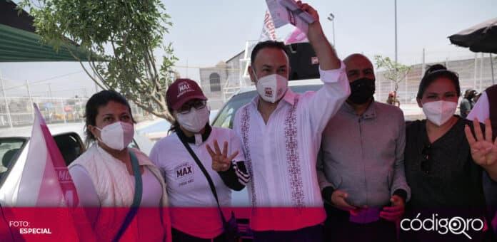 Arturo Maximiliano afirmó su candidatura de Morena a la presidencia municipal de Querétaro se mantiene firme. Foto: Especial