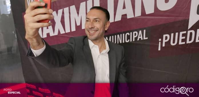El candidato de Morena a la presidencia municipal de Querétaro, Arturo Maximiliano, presentó sus propuestas en materia de movilidad. Foto: Especial