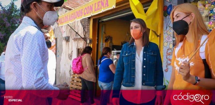 Beatriz León Sotelo, candidata de Movimiento Ciudadano a la gubernatura de Querétaro, visitó la delegación Santa Rosa Jáuregui. Foto: Especial