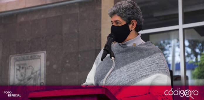 La rectora de la UAQ, Teresa García Gasca, lamentó la ligereza con que las campañas electorales han tratado el tema de la movilidad. Foto: Especial