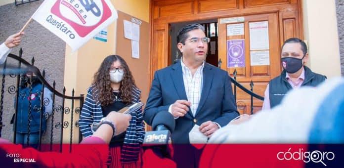 Carlos Alberto Rentería Rivera se registró como candidato de RSP a la presidencia municipal de Querétaro. Foto: Especial