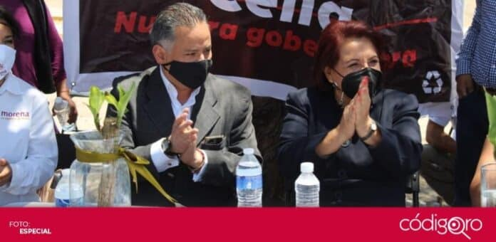 Celia Maya, candidata de Morena a la gubernatura de Querétaro, visitó el municipio de San Juan del Río. Foto: Especial