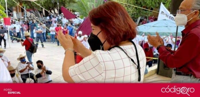 Celia Maya García, candidata de Morena a la gubernatura del estado de Querétaro, visitó el municipio de Tolimán. Foto: Especial