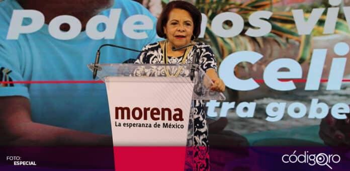 La candidata de Morena a la gubernatura del estado de Querétaro, Celia Maya García, anunció que dará a conocer su plan de gobierno. Foto: Especial