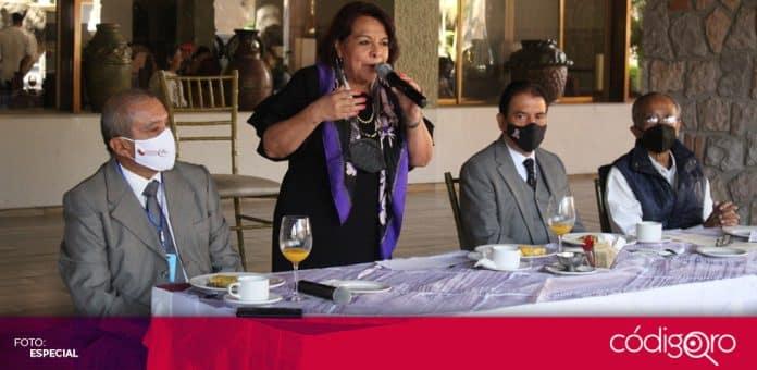 La candidata de Morena a la gubernatura de Querétaro, Celia Maya, insiste en su propuesta de construir el Metro. Foto: Especial