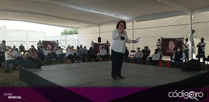 La candidata de Morena a la gubernatura de Querétaro, Celia Maya, propuso apoyar a productores agrícolas y ganaderos. Foto: Especial