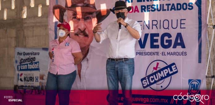 Enrique Vega Carriles comenzó su campaña electoral como candidato del PAN a la presidencia municipal de El Marqués. Foto: Especial