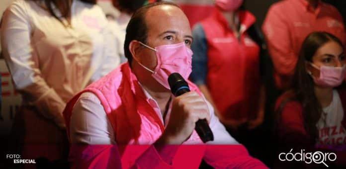 El candidato de Fuerza por México a la gubernatura de Querétaro, Juan Carlos Martínez, propuso la creación de la Secretaría de Transporte y Movilidad Sustentable. Foto: Especial