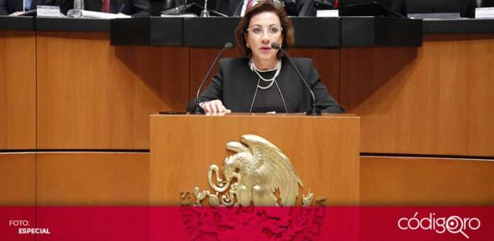 La senadora panista Guadalupe Murguía rechazó la ampliación del periodo del presidente de la SCJN. Foto: Especial