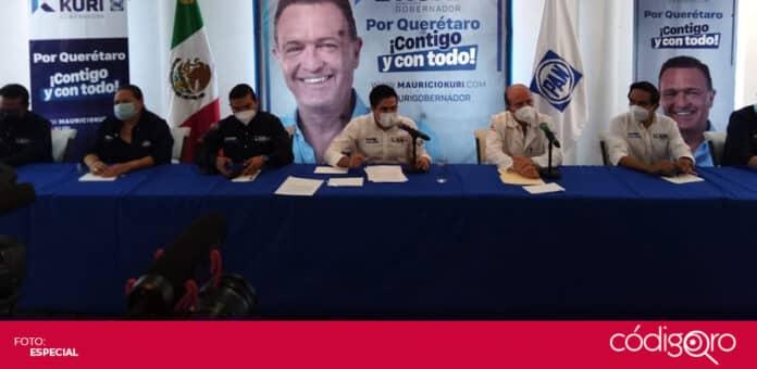 El candidato común del PAN y QI a la gubernatura de Querétaro, Mauricio Kuri, fue hospitalizado por un evento vascular leve. Foto: Especial
