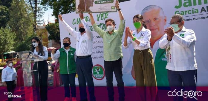 Jaime García Alcocer, candidato del PVEM a la presidencia municipal de Querétaro, inició su campaña electoral. Foto: Especial