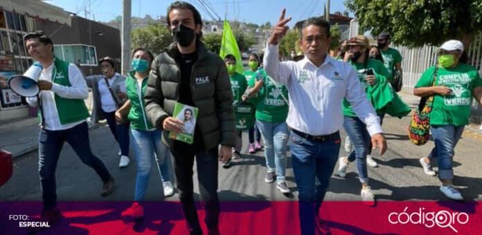Javier Navarrete es el candidato del Partido Verde Ecologista de México a la presidencia municipal de Corregidora. Foto: Especial