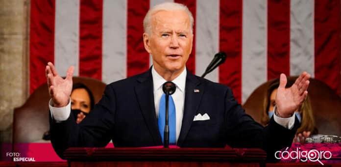 El presidente de Estados Unidos, Joe Biden, se dirigió por primera vez al Congreso de la Unión Americana. Foto: Especial