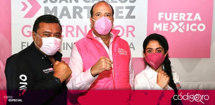 El candidato de Fuerza por México a la gubernatura de Querétaro, Juan Carlos Martínez, visitó San Juan del Río. Foto: Especial