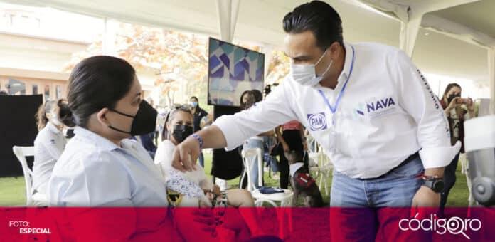 El candidato común del PAN y QI a la presidencia municipal de Querétaro, Luis Bernardo Nava Guerrero, presentó sus propuestas de cuidado animal. Foto: Especial