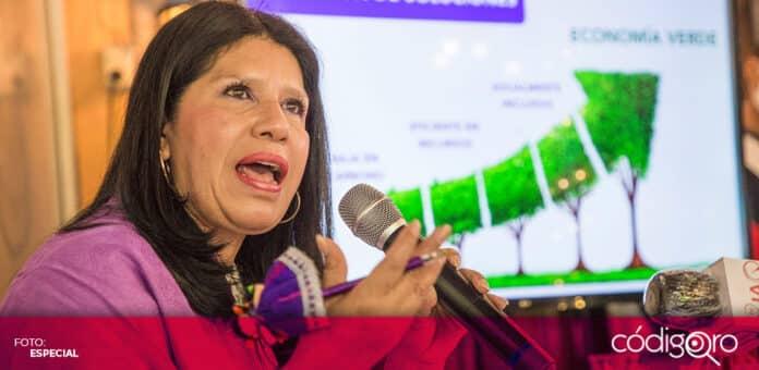 La candidata del PES a la gubernatura de Querétaro, María de Jesús Ibarra Silva, planteó la