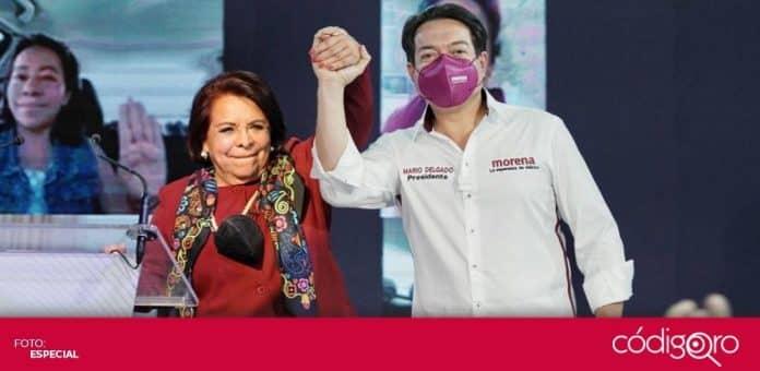 Celia Maya García, candidata de Morena a la gubernatura de Querétaro, arrancó su campaña electoral. Foto: Especial