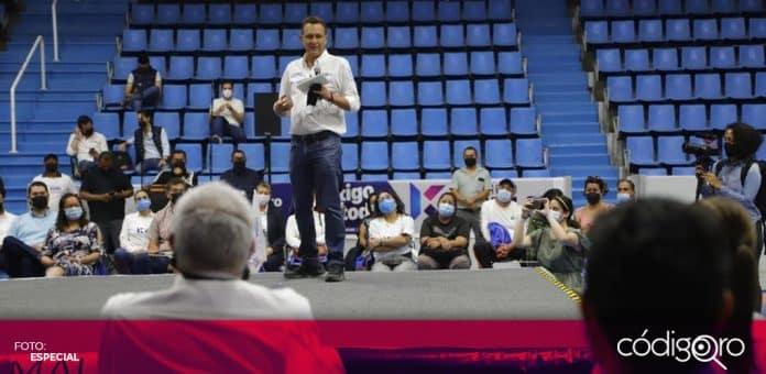 En el municipio de San Juan del Río, Mauricio Kuri González presentó el programa