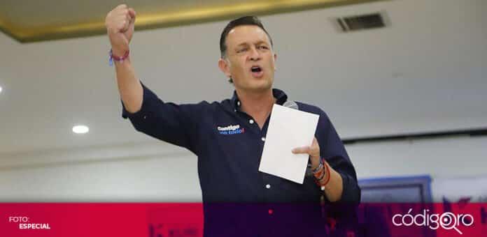 El candidato común del PAN y Querétaro Independiente, Mauricio Kuri González, presentó su propuesta de Tarjeta Contigo. Foto: Especial