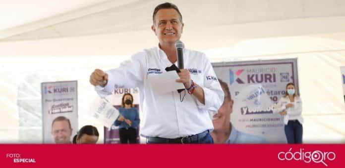 El candidato del PAN a la gubernatura, Mauricio Kuri, propuso construir una nueva carretera de Querétaro a San Juan del Río. Foto: Especial