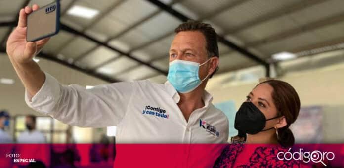 El candidato común del PAN y QI a la gubernatura, Mauricio Kuri, se encuentra internado en el Hospital Ángeles. Foto: Especial