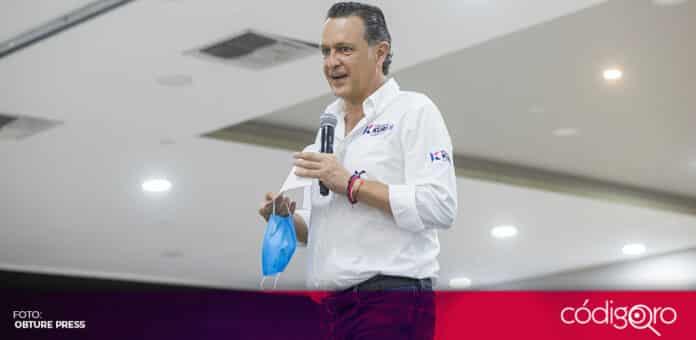 Tras haber sufrido un evento vascular leve, el candidato común del PAN y QI a la gubernatura, Mauricio Kuri, será dado de alta. Foto: Obture Press