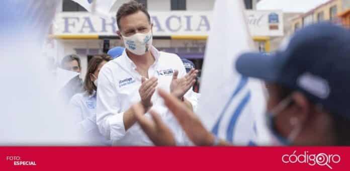 El candidato común del PAN y Querétaro Independiente a la gubernatura, Mauricio Kuri, encabeza la encuesta de Arias Consultores. Foto: Especial