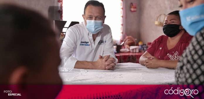 El candidato común del PAN y QI a la gubernatura, Mauricio Kuri González, propuso erradicar la pobreza extrema. Foto: Especial