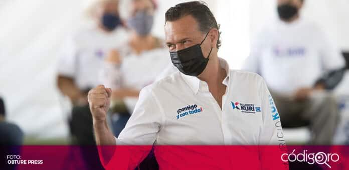 El candidato común del PAN y Querétaro Independiente a la gubernatura, Mauricio Kuri González, fue dado de alta. Foto: Obture Press