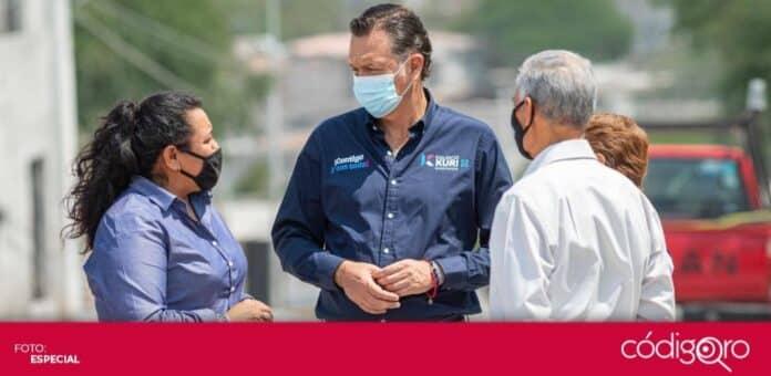 Mauricio Kuri, candidato común del PAN y QI a la gubernatura, prometió preservar la seguridad. Foto: Especial