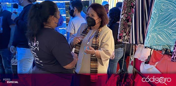 La candidata de Morena a la gubernatura de Querétaro, Celia Maya, negó que vaya a permitir el regreso de los comerciantes a la Alameda. Foto: Especial