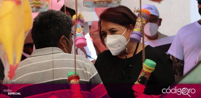 La candidata de Morena a la gubernatura de Querétaro, Celia Maya, detalló su plan de programas de desarrollo. Foto: Especial