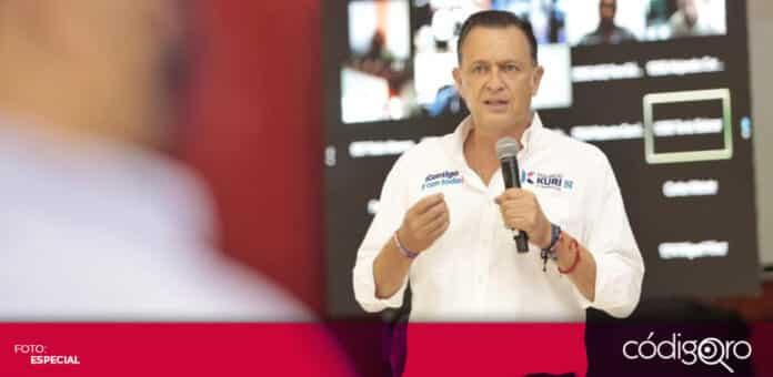 El candidato común del PAN y QI a la gubernatura, Mauricio Kuri, fue hospitalizado por un evento vascular leve. Foto: Especial