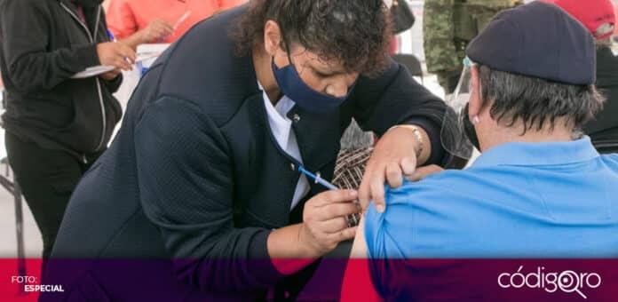 Ha comenzado la aplicación de la segunda dosis de la vacuna contra COVID-19 en el estado de Querétaro. Foto: Especial