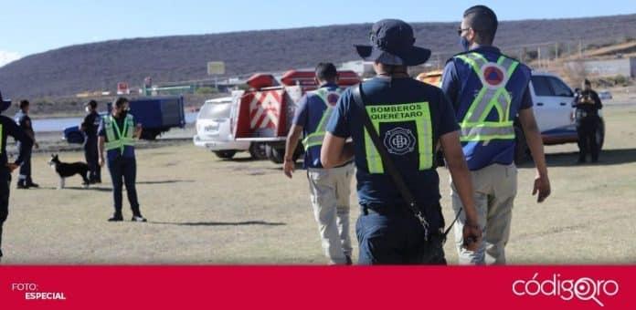 Protección Civil Municipal de Querétaro encabezó un operativo en las presas y bordos de la capital queretana. Foto: Especial