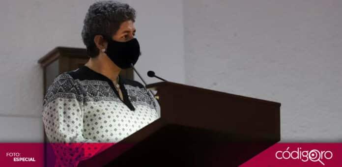 La rectora Teresa García Gasca enfatizó la alta participación política de la UAQ. Foto: Especial