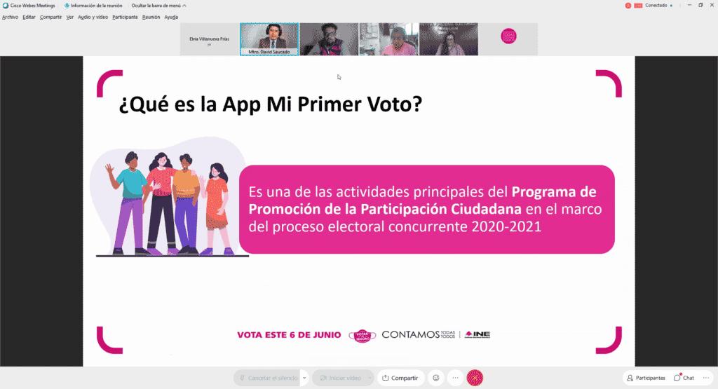 """UAQ e INE colaboran en difusión de aplicación móvil """"Mi primer voto"""""""