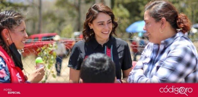 La candidata del PRI a la gubernatura de Querétaro, Abigail Arredondo Ramos, planteó la entrega de becas de 4 mil pesos a los estudiantes. Foto: Especial