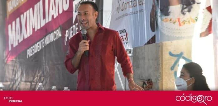 El candidato de Morena a la presidencia municipal de Querétaro, Arturo Maximiliano, propuso la creación de casas de la tecnología. Foto: Especial