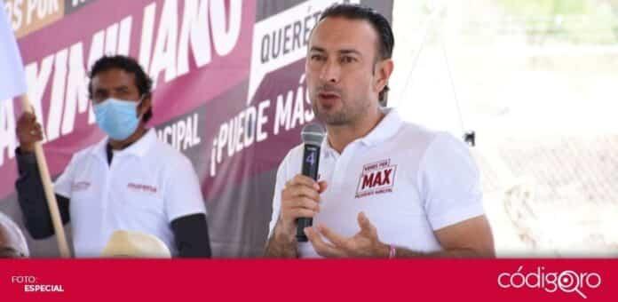 El candidato de Morena a la presidencia municipal de Querétaro, Arturo Maximiliano García Pérez, se reunió con productores agrícolas. Foto: Especial