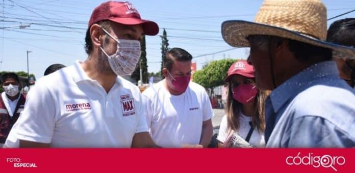 El candidato de Morena a la presidencia municipal de Querétaro, Arturo Maximiliano García Pérez, propuso un plan de movilidad. Foto: Especial