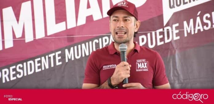 El candidato de Morena a la presidencia municipal de Querétaro, Arturo Maximiliano, fue multado por actos anticipados de campaña. Foto: Especial