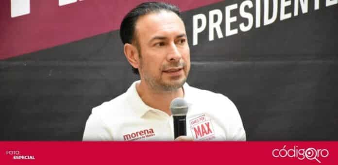 El candidato de Morena a la presidencia municipal de Querétaro, Arturo Maximiliano, planteó mejorar la infraestructura escolar. Foto. Especial