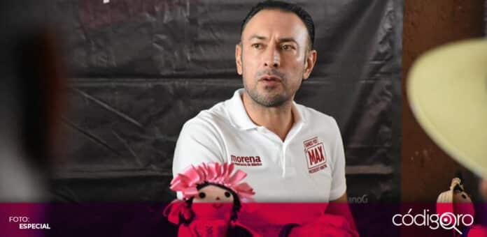 El candidato de Morena a la presidencia municipal de Querétaro, Arturo Maximiliano, se reunió con el Consejo de Notarios. Foto: Especial