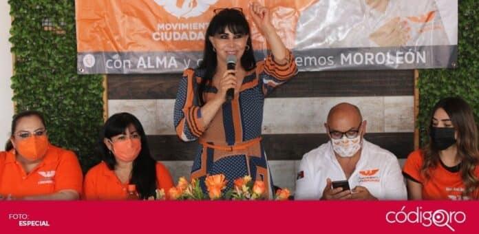 Alma Rosa Barragán Santiago, candidata de Movimiento Ciudadano a la presidencia municipal de Moroleón, Guanajuato, fue asesinada. Foto: Especial